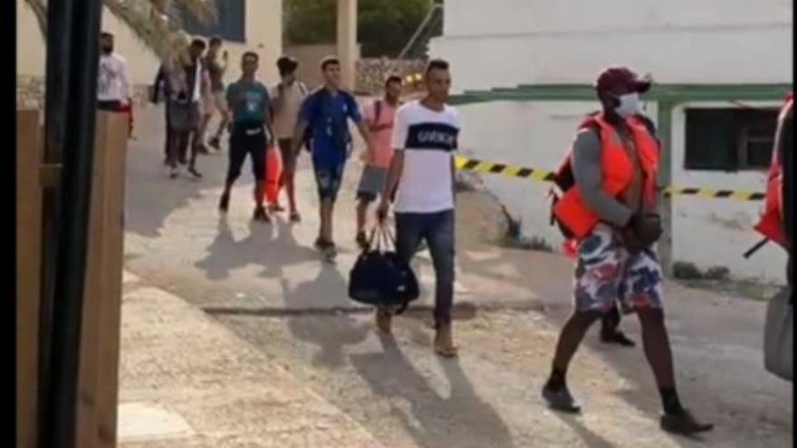 Llegada masiva de migrantes a Baleares