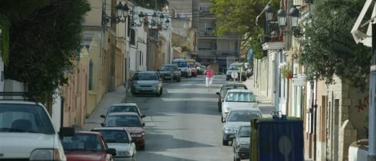 Calle del barrio de Campamento de Paterna.