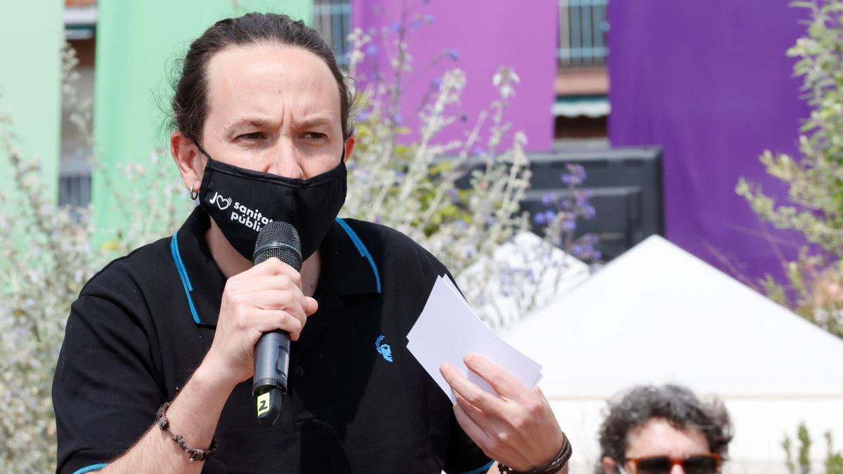 Pablo Iglesias, en el acto celebrado por Podemos.