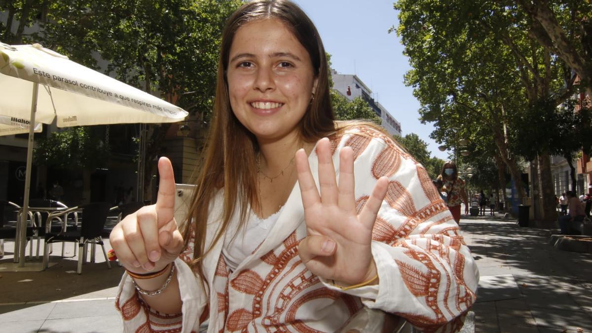 Fátima Sánchez Palma, del colegio de Fomento El Encinar, ha sido la cordobesa con la nota más alta de Selectividad.