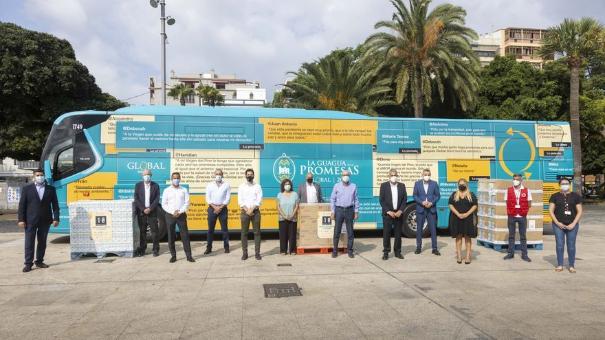 Rumbo a La Palma la guagua de las promesas