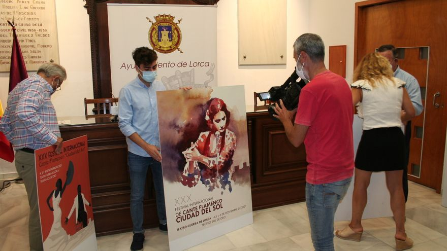 Una acuarela de Cristóbal Rodríguez será el cartel del Festival Flamenco de Lorca