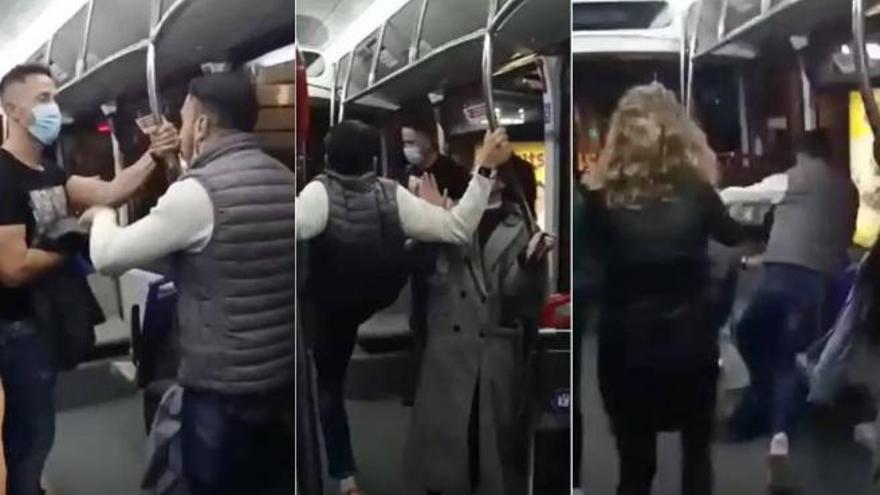 Vídeo: Brutal agresión de un magrebí a un policía que le pidió que se pusiera la mascarilla en el bus