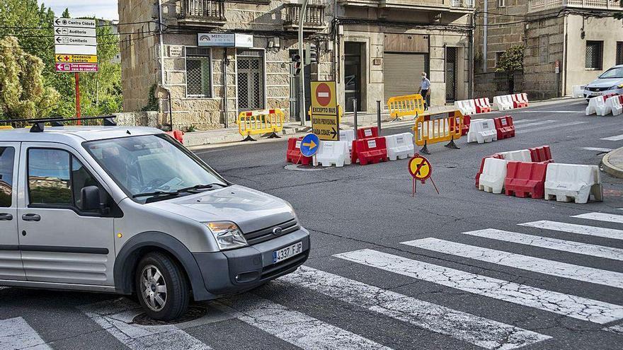 La Xunta anuncia un cambio de desvíos en la rúa Marcelo Macías por las obras