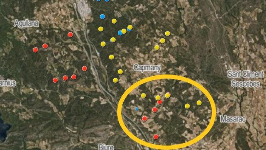Nou projecte de parc eòlic amb cinc aerogeneradors entre Capmany i Sant Climent Sescebes