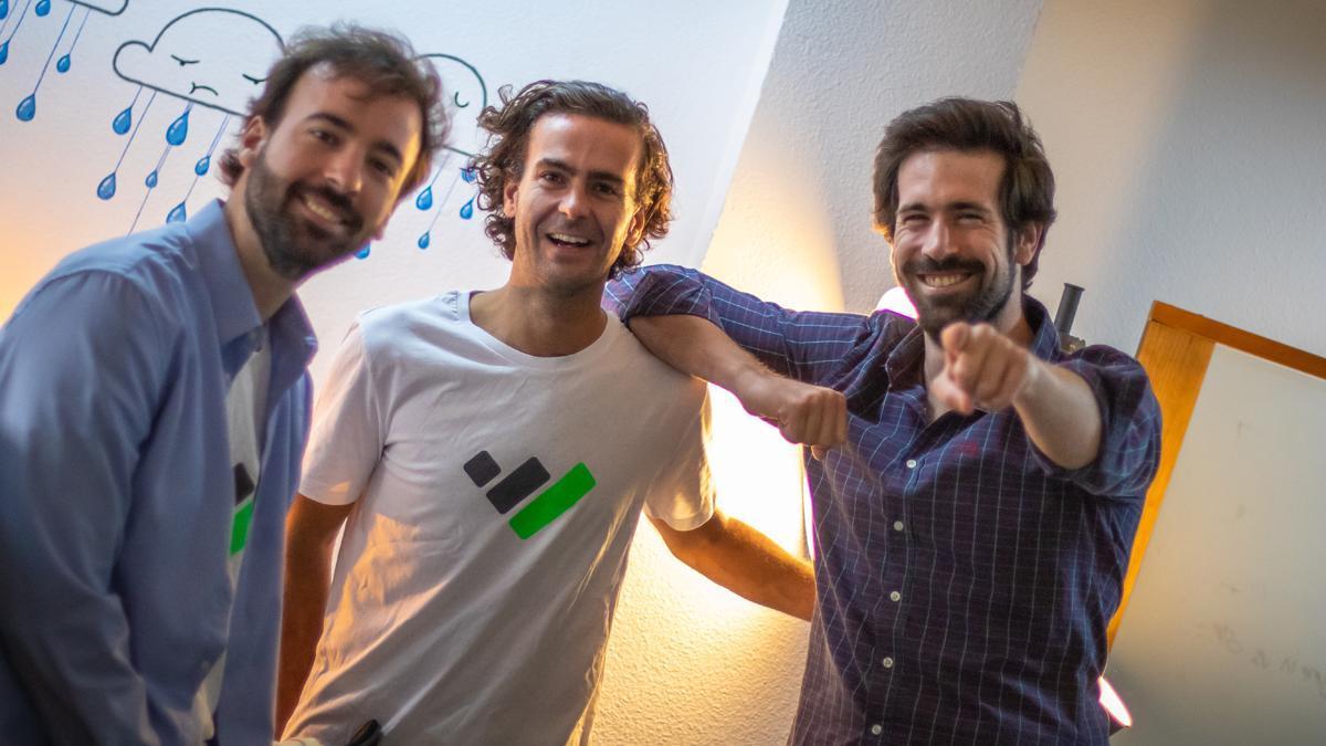 Los tres fundadores de TaxDown, la herramienta que permite ahorrar con la declaración de la renta.