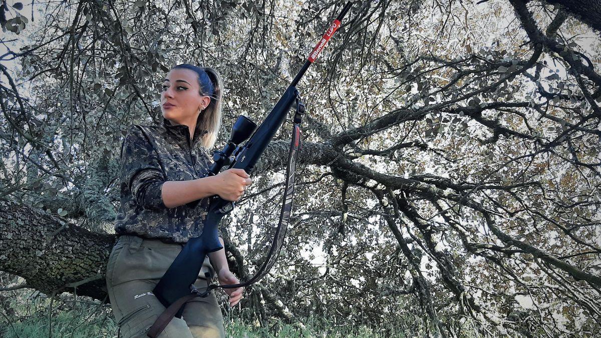 Rocío Bueno es una experimentada cazadora a pesar de su juventud.