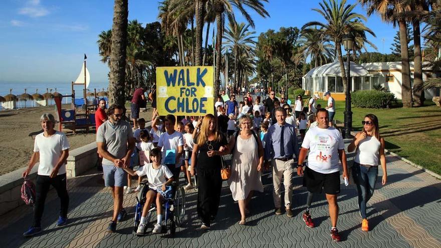 Recogen fondos para Chloé, una niña de Marbella con una enfermedad rara