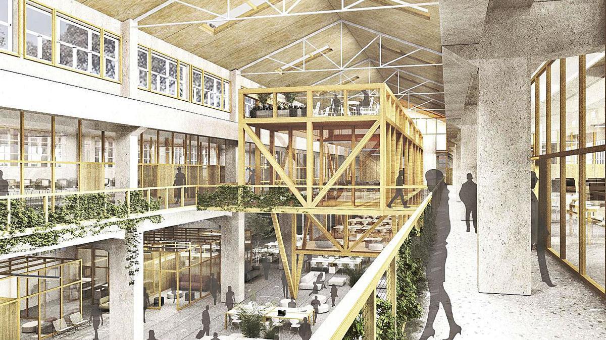 Imagen virtual de lo que será el Centro de Servicios Avanzados de la Ciudad de las TIC.   | // LA OPINIÓN