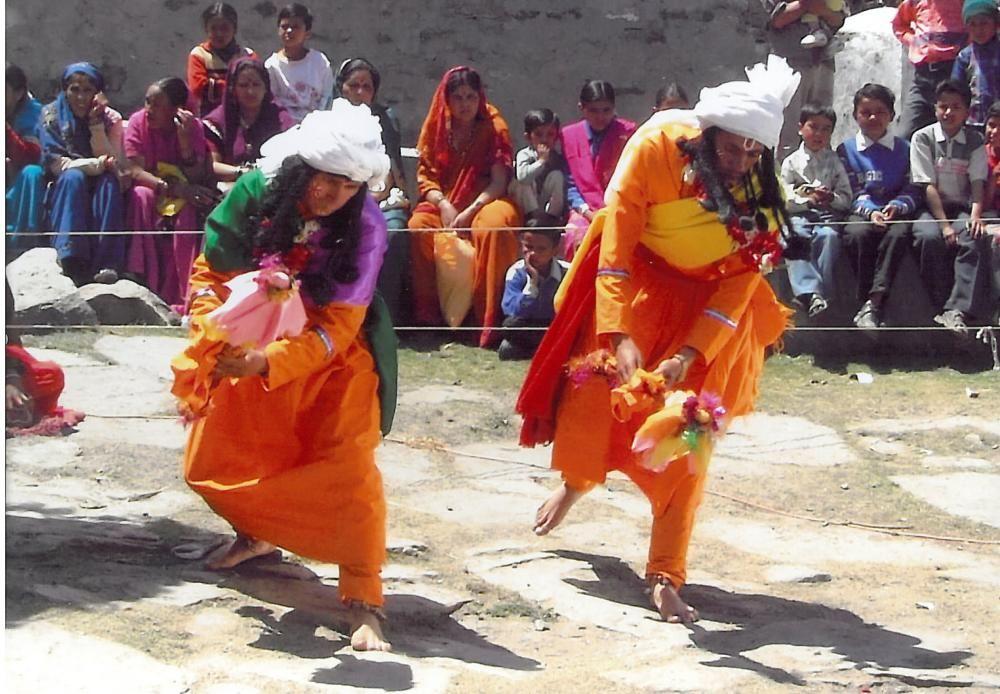 India - El Ramman, festival religioso y teatro ritual del Garhwal region del Himalaya.