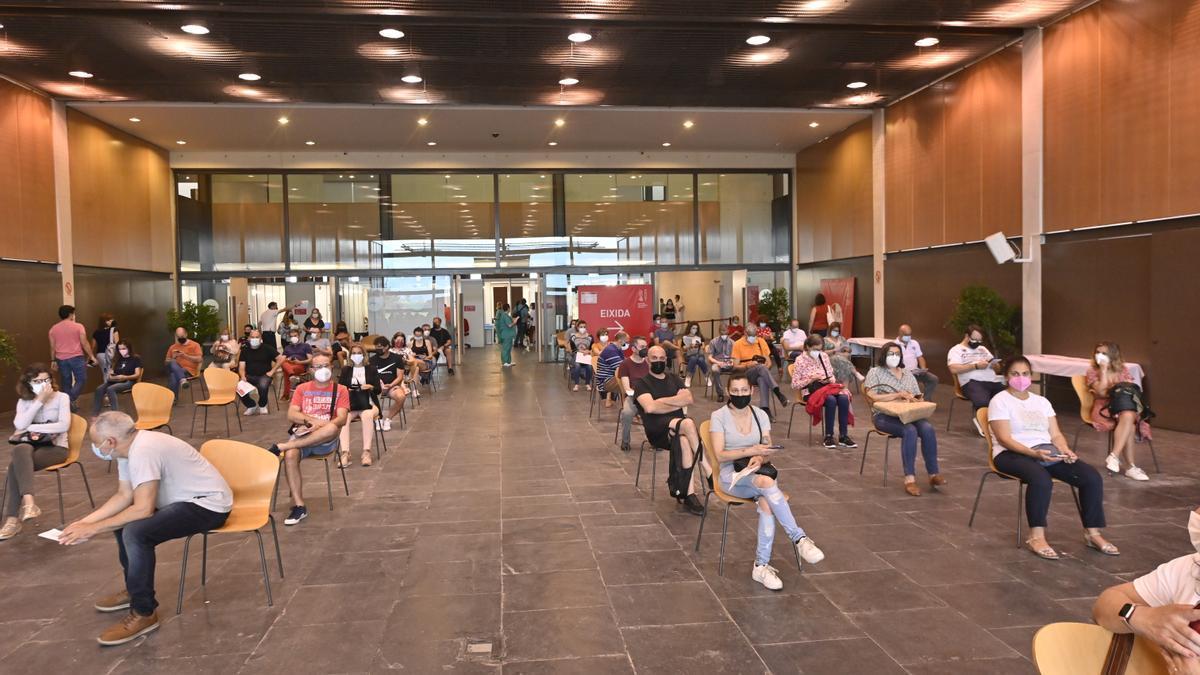 Imagen del centro de vacunación masiva del Auditori de Castelló.