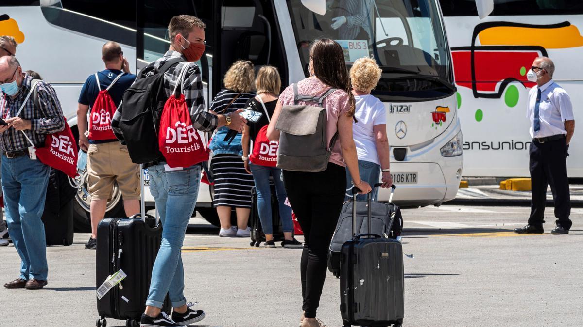 Turistas en Mallorca.