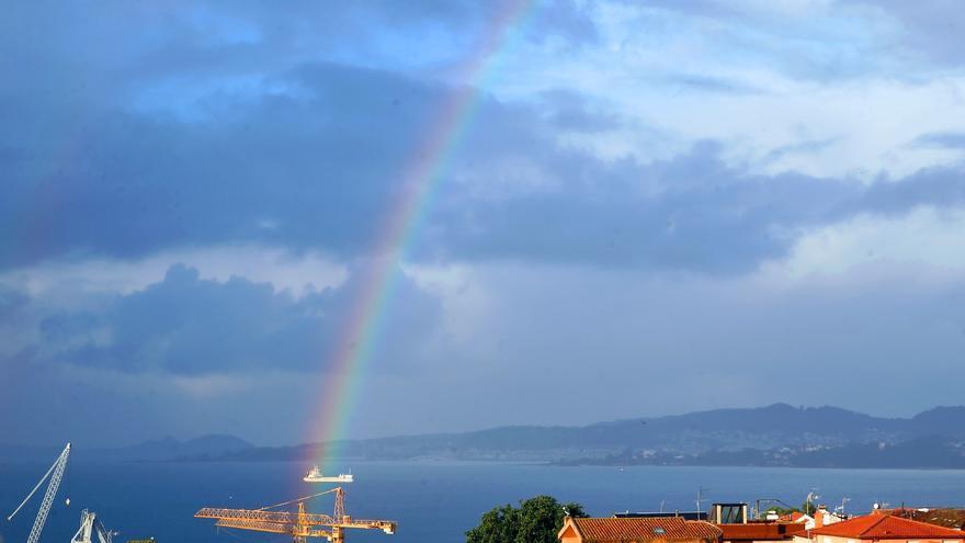 Las estampas caprichos del temporal Dora en Galicia