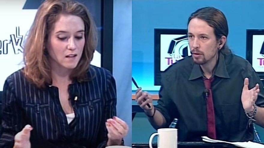 Quan Pablo Iglesias presentava «La Tuerka» i tenia a Ayuso de col·laboradora