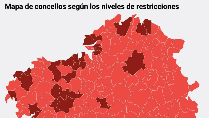 Consulta las nuevas restricciones en Galicia, concello a concello