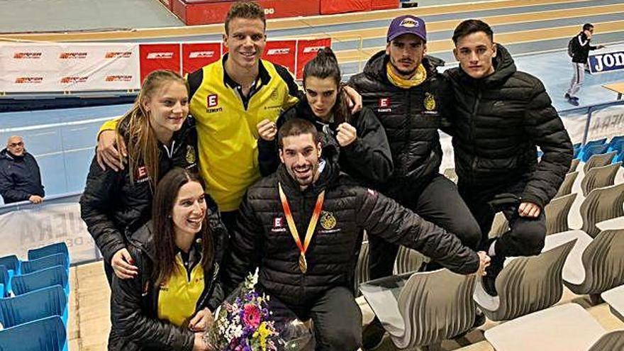 Sánchez i Salas porten dues medalles de l'estatal absolut indoor a Igualada
