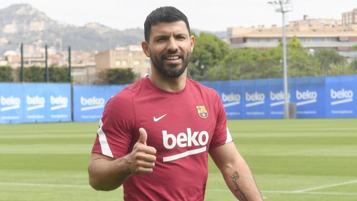 The FC Barcelona player Sergio & # 039; Kun & # 039;  Omen.