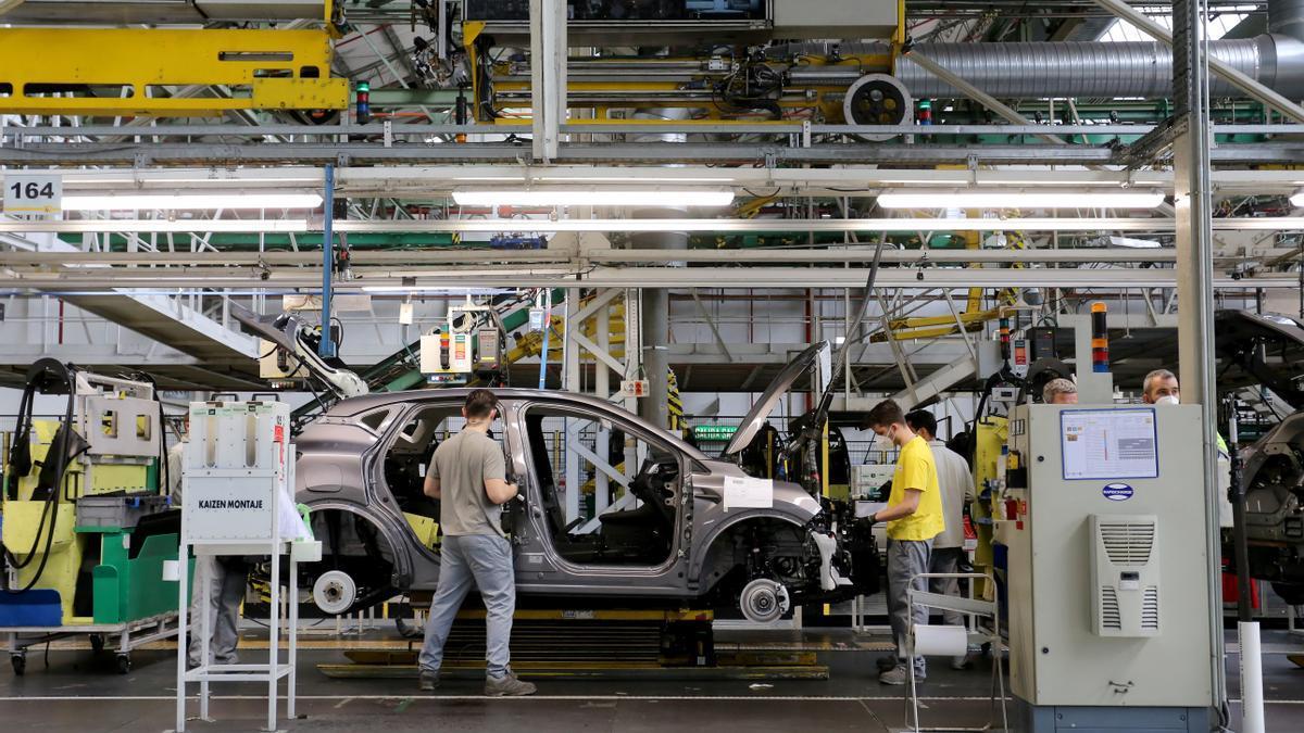 Trabajadores de la fábrica de Renault en Valladolid.