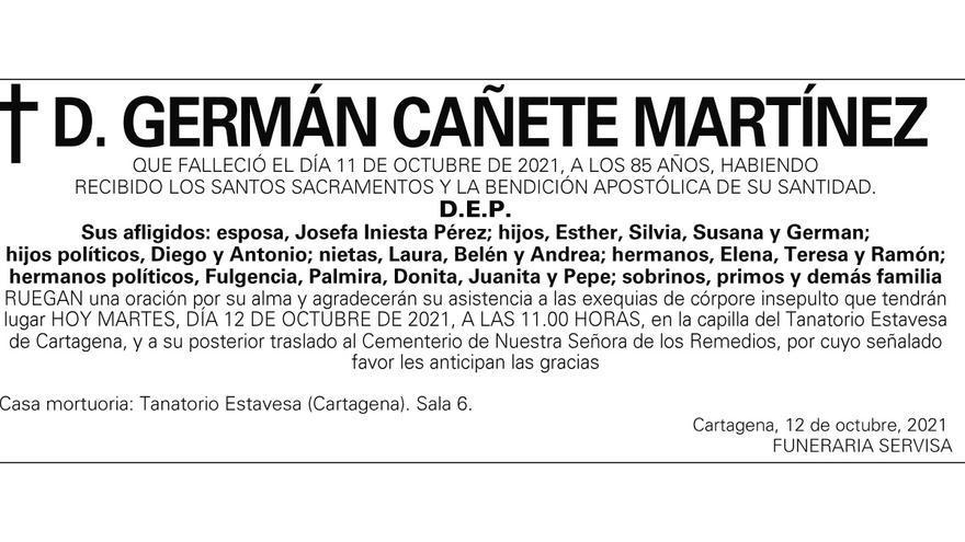 D. Germán Cañete Martínez