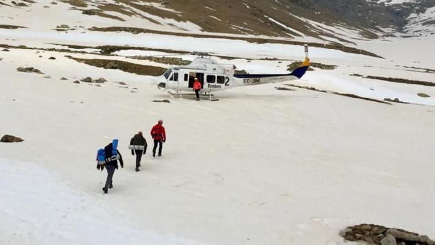 Dos excursionistes hauran de pagar més de 2.600 euros pel seu rescat a Queralbs durant l'estat d'alarma