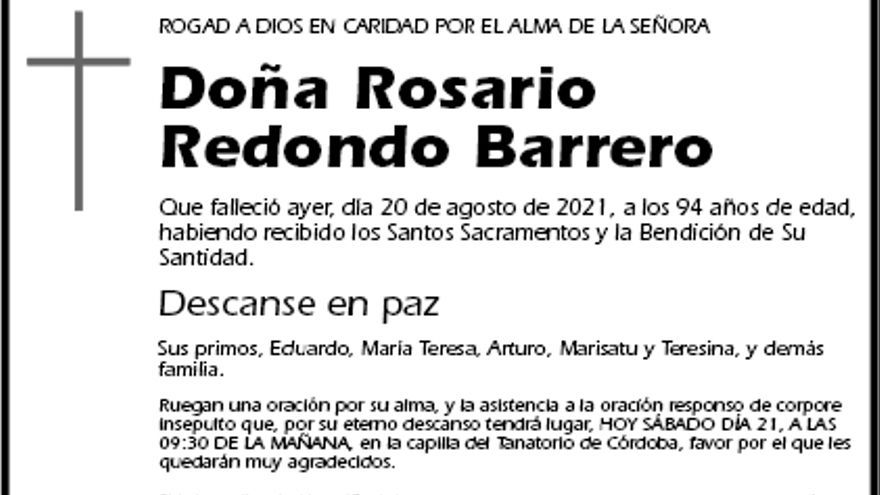 Rosario Redondo Barrero
