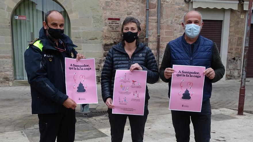 Santpedor posa en marxa una campanya contra els excrements de gos al carrer