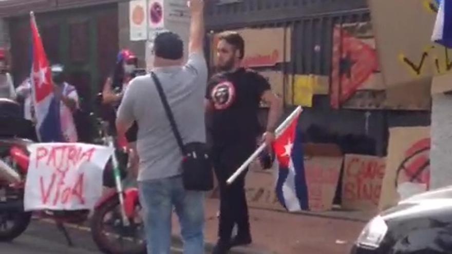 Protesta ante el consulado de Cuba en Gran Canaria