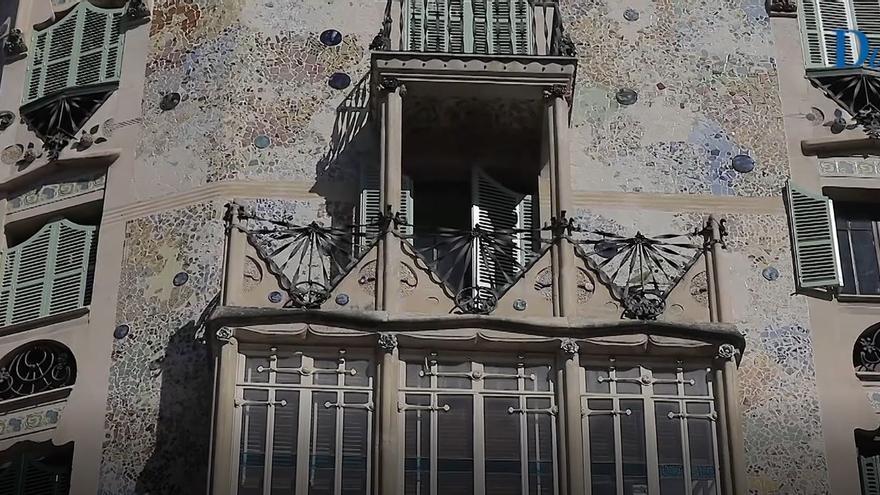 Descubren las policromías originales en el edificio modernista de Can Forteza Rey de Palma