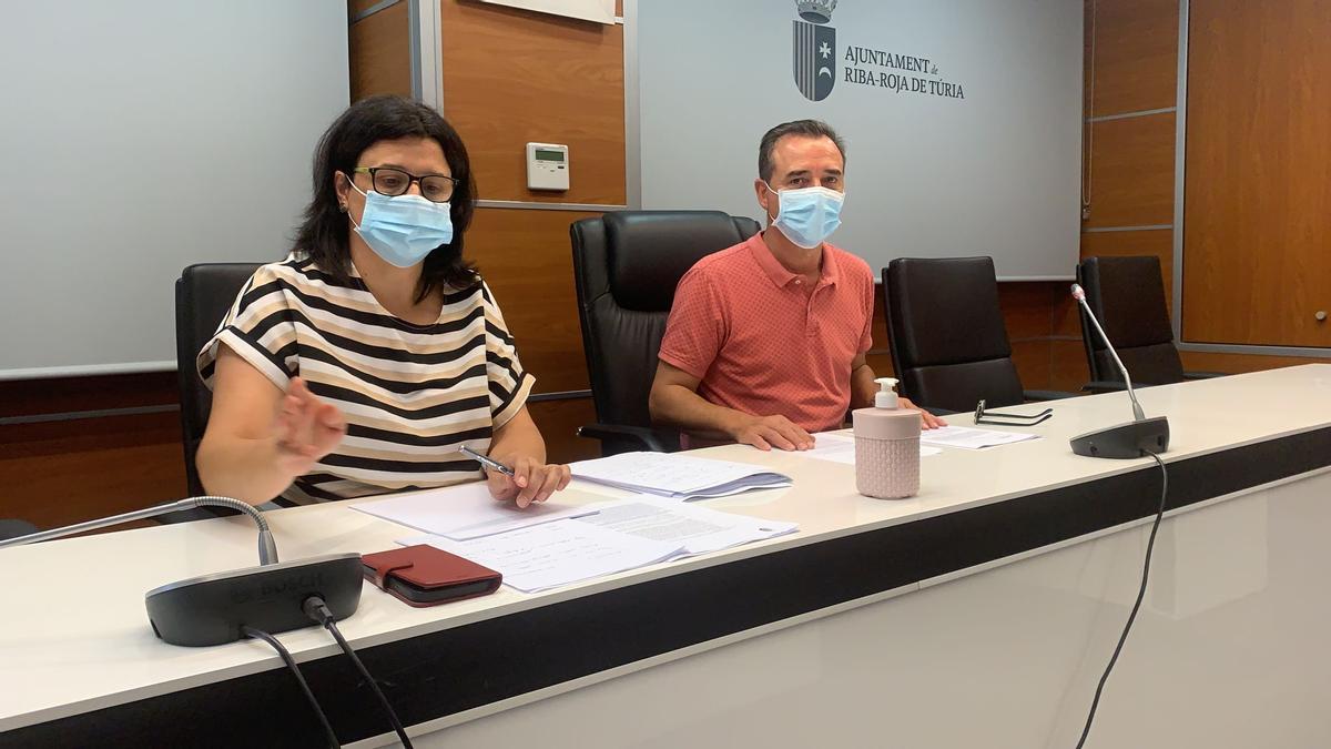 Rueda de prensa sobre el PAI de Porxinos en RIba Roja de Túria.
