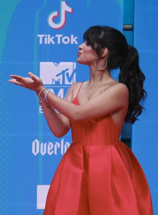 Singer Camila Cabello arrives at the 2018 MTV ...