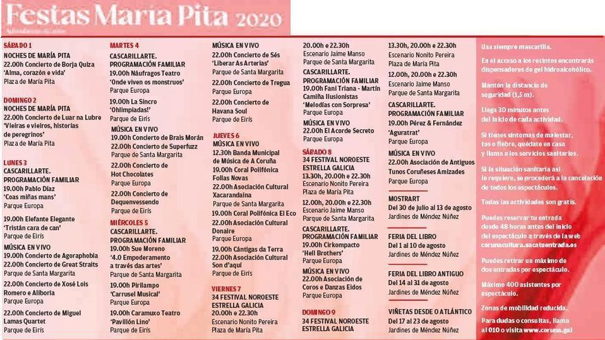 Borja Quiza, Luar na Lubre y Sés, voces principales de las fiestas de María Pita