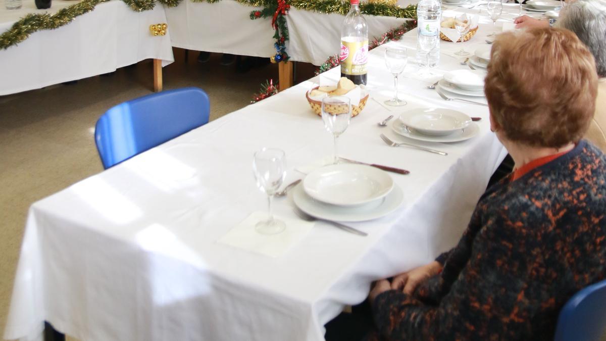 Comida de Navidad en La Villarina en años anteriores.
