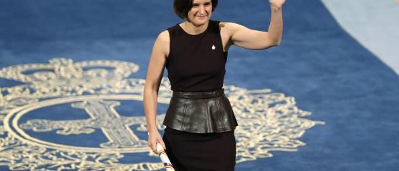 La economista francesa Esther Duflo, en 2015, cuando recogió el Princesa de Asturias.