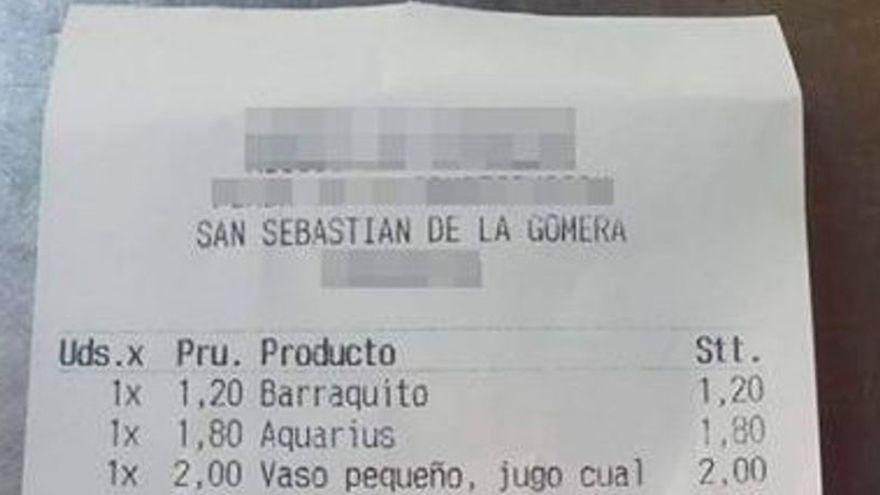 Un nuevo 'sablazo' en la cuenta de una cafetería se hace viral