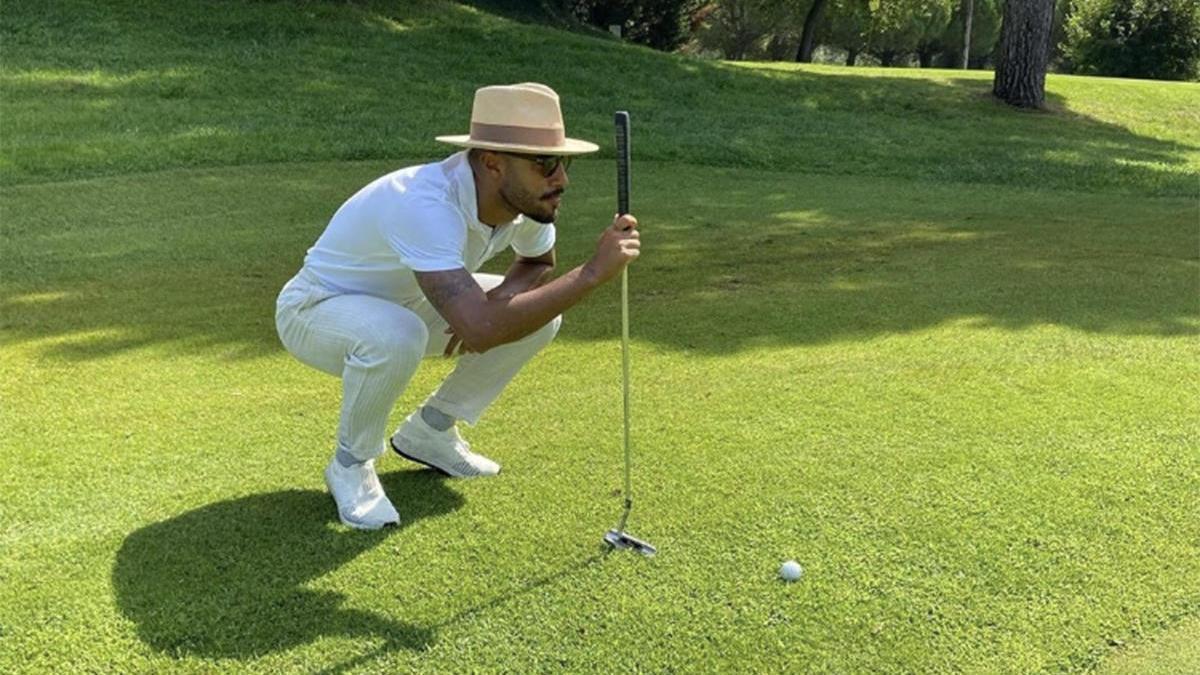 Rafinha, jugando al golf esta semana // Instagram