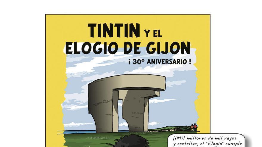 """Tintín y Haddock celebran el aniversario del """"Elogio"""" de la mano de Manuel Iglesias"""