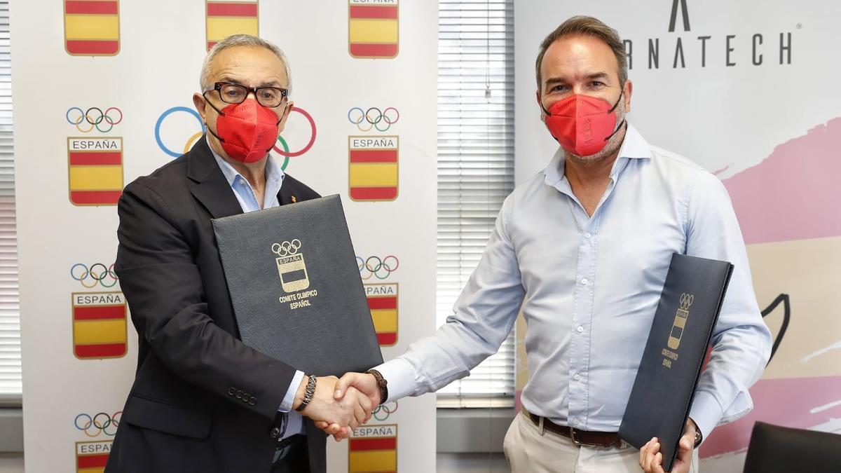 Acto de firma y presentación de la alianza entre Airnatech y el Comité Olímpico Español.