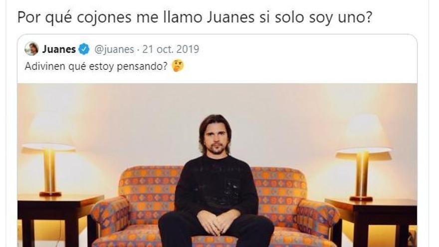 El artista Juanes responde al tuit viral de un zamorano