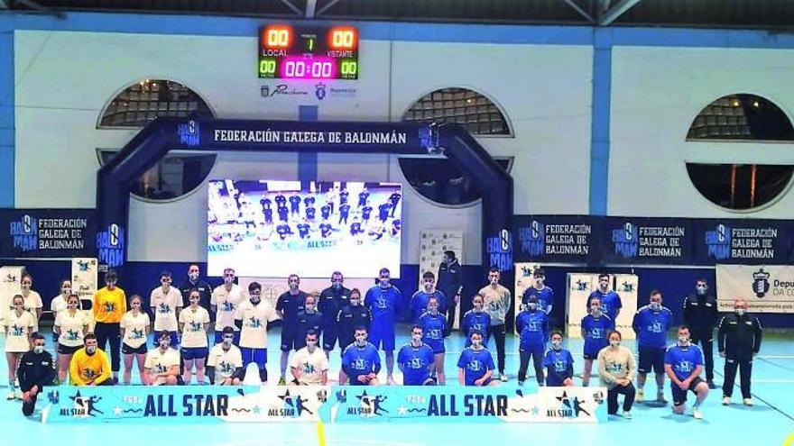Grandes momentos y solidaridad en el All Star del balonmano gallego