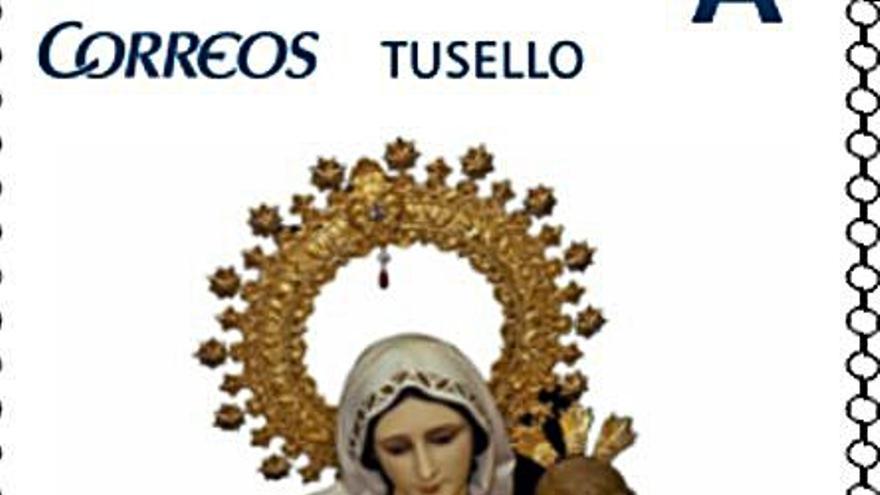 Ponen en circulación un sello con la Virgen del Carmen de Salinas