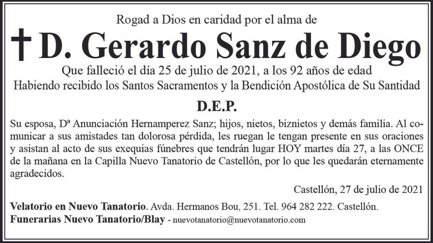 D. Gerardo Sanz de Diego