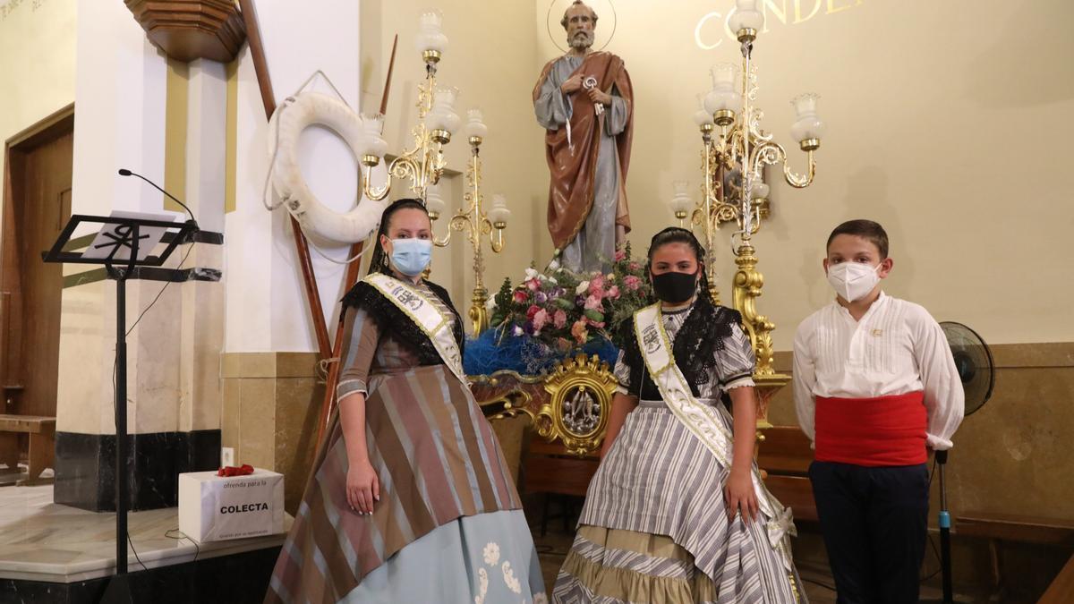 La misa del pasado año tuvo lugar con todas las medidas de seguridad en el Grau.
