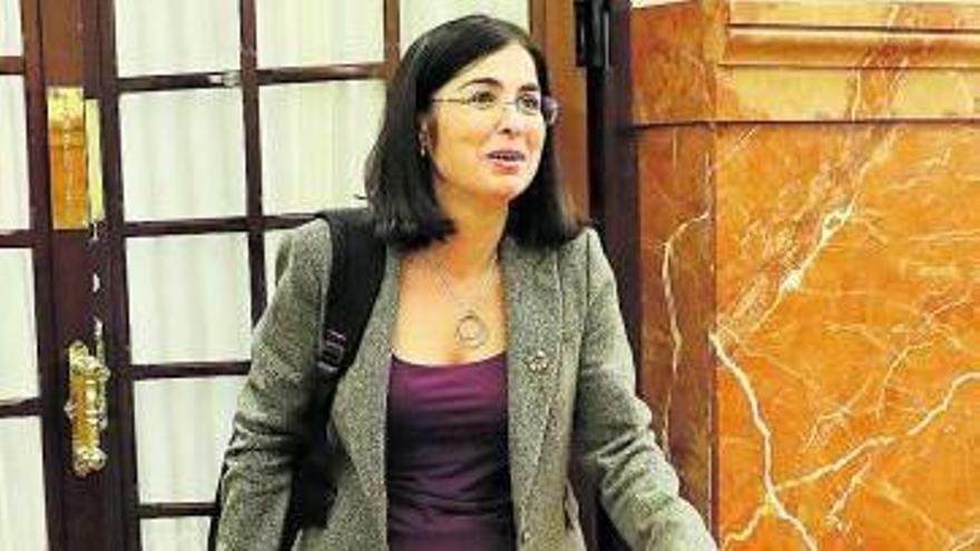 Carolina Darias en una imagen de archivo al principio de la legislatura.