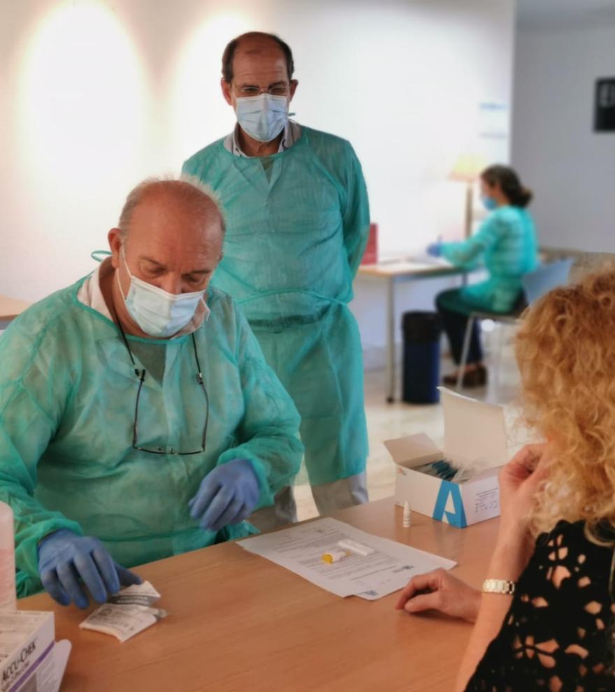 Imagen de la Campaña detección SARS-CoV-2 en el Colegio de Médicos.