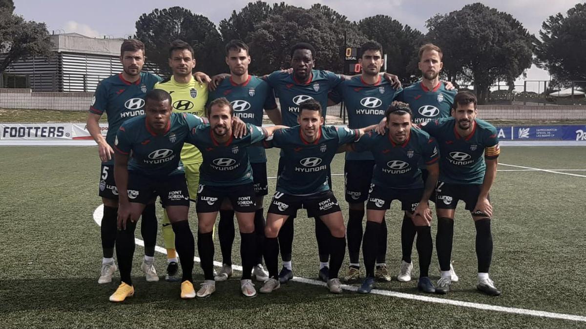 Once inicial del Atlético Baleares en su visita hoy a Las Rozas