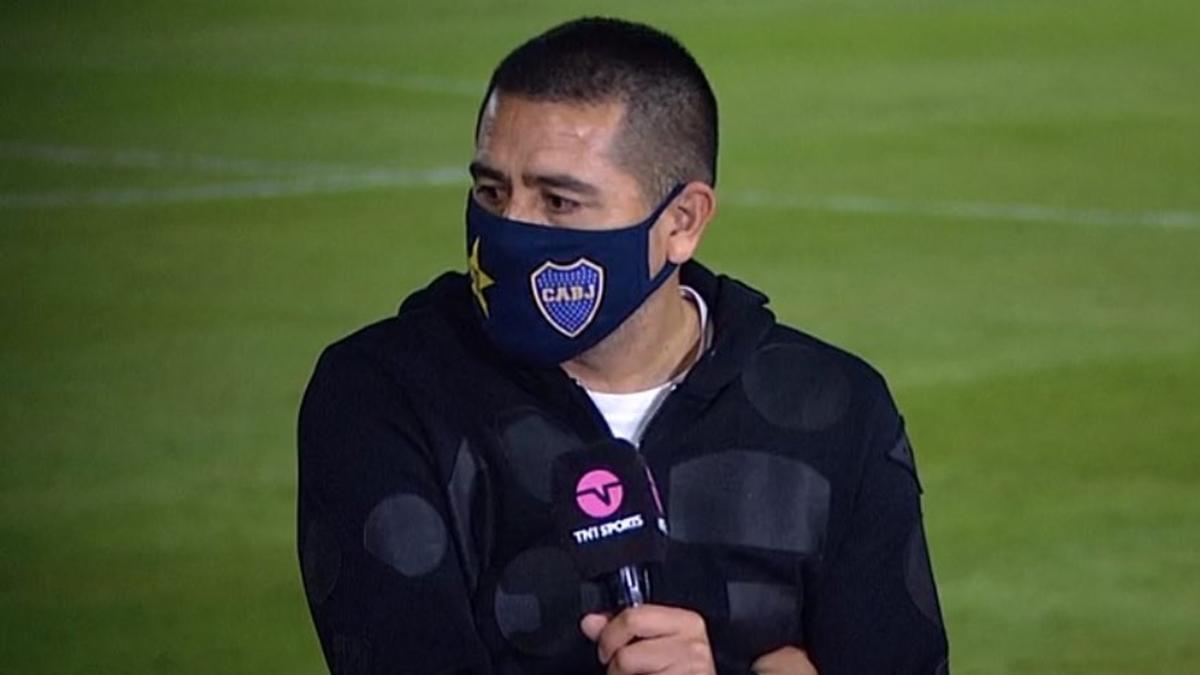 Riquelme, durante su intervención en la televisión TNT Sports.
