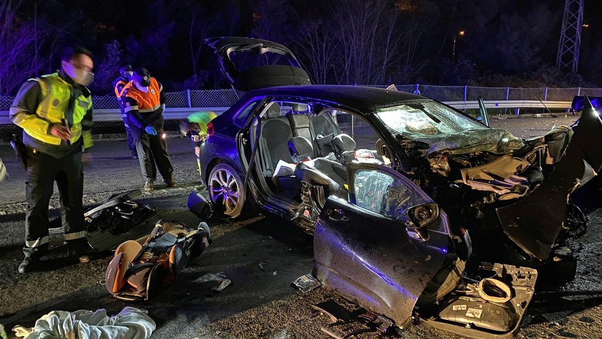 Un accidente de tráfico en las carreteras españolas