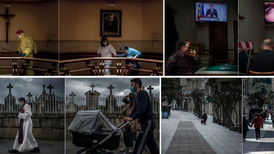 Los antes y después en Ourense de la pandemia que transformó el mundo