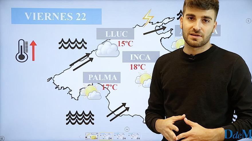 El tiempo del fin de semana en Mallorca: Vientos huracanados