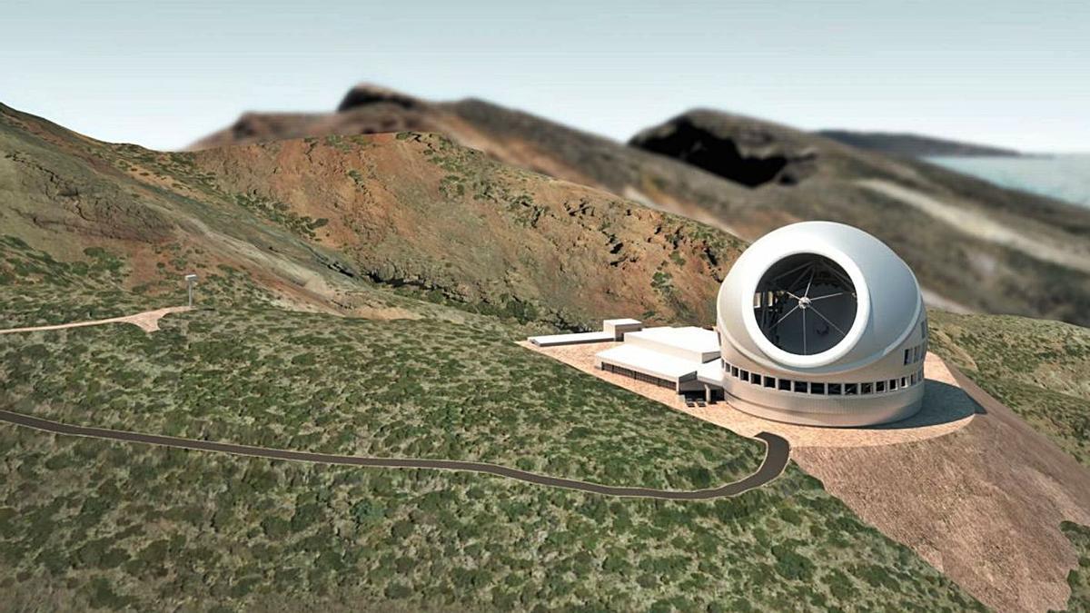 Ubicación del TMT si al final se instala en las cumbres de La Palma.